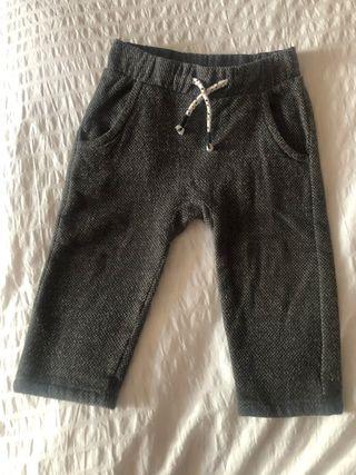 Pantalón bebé marrón-grisáceo Talla 86cm