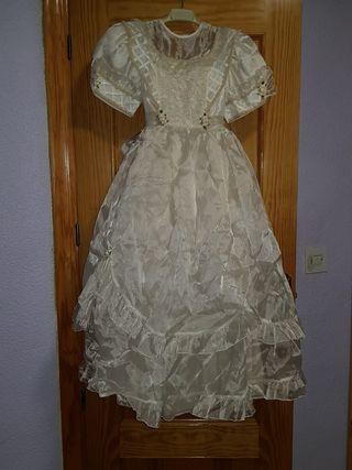 vestido color crema para niñas