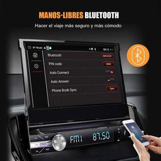 Auto radio con pantalla táctil retráctil