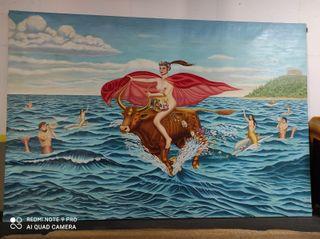"""Cuadro mural el """"Rapto de Europa"""""""