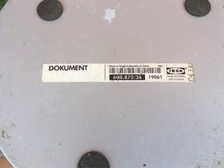 Papelera metálica gris IKEA