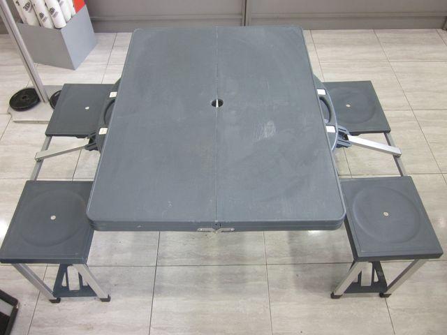 Set de Camping mesa y sillas maletin plegable