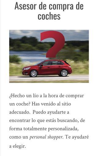 Asesor de compra o venta de coches nuevos o usados
