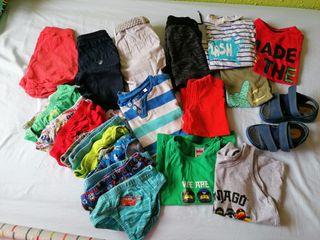 Lote de ropa verano niño talla 2-3 años
