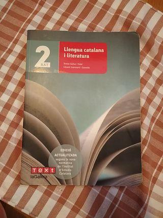 LIBRO DE LENGUA CATALANA Y LITERATURA 2 BACH.
