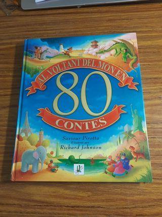 Libro de 80 cuentos en catalán.