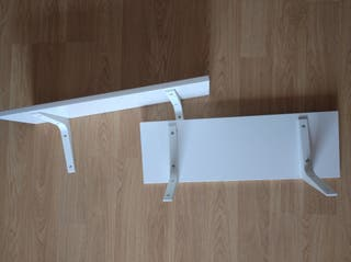 Estantes blancos Ikea