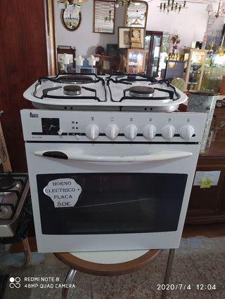 conjunto horno y placa teka