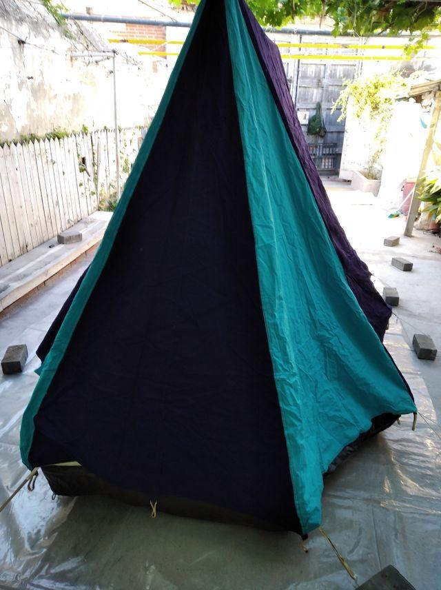 tienda 4 personas + conjunto camping