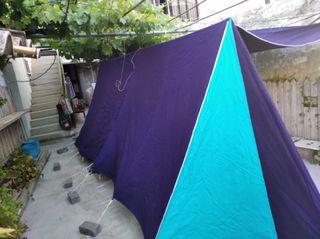 tienda con avance + conjunto camping