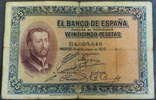 Billete 25 pesetas 12 Octubre 1926 S-Fr-Xavier
