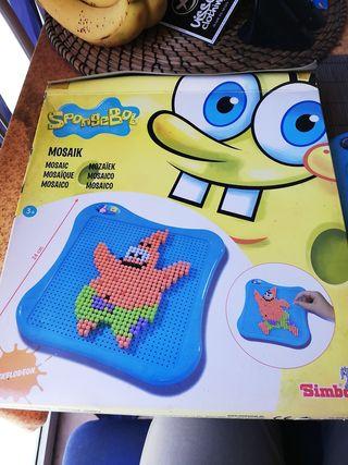 mosaico de niños Bob esponja patricio