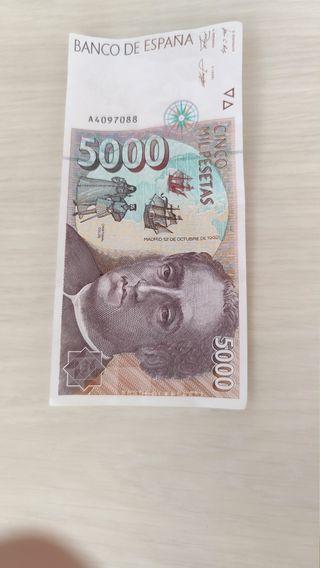 billete de 5000 pesetas
