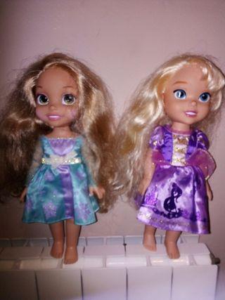 Muñecas Elsa y Rapunzel