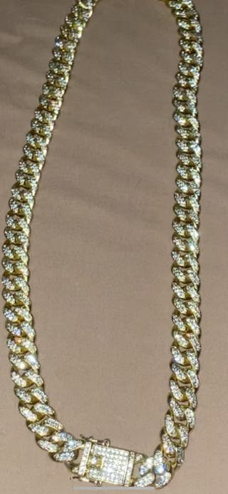 Heavy Iced out Gold Miami Cuban diamond chain 20mm