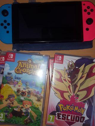 Nintendo Switch + 4 juegos