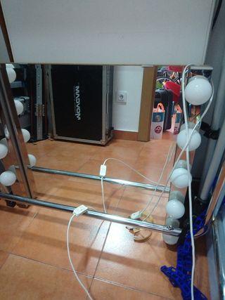 espejo tocador con bombillas ikea
