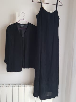 vestidor largo y chaqueta a conjunto