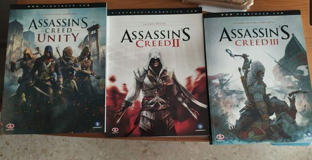 Guias oficiales Assassins Creed II, III y unity