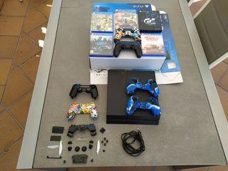 Playstation 4 (PS4) 500gb + accesorios + juegos
