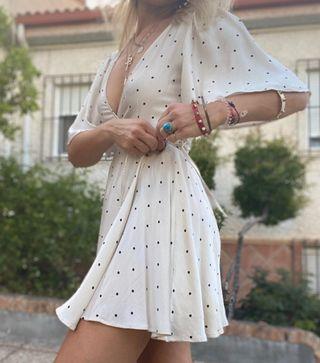 Vestido satinado hm