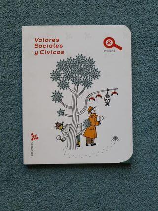 Valores Sociales y Cívicos 2º Primaria Edelvives