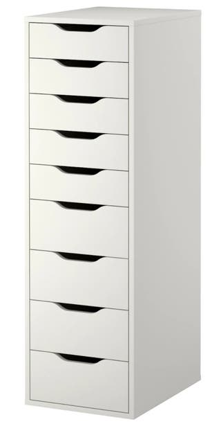 9 ALEX Drawer unit with 9 drawers, white