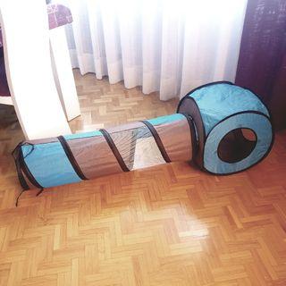 Túneles de juguete para gatos