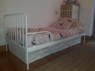 Cama extensible Ikea niños