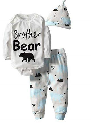 Pijama manga larga para bebés de 2 piezas
