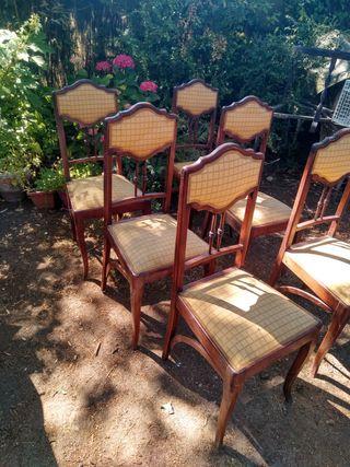 6 sillas vintage para restaurar