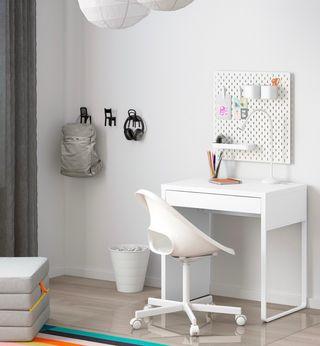 3 MICKE White desks