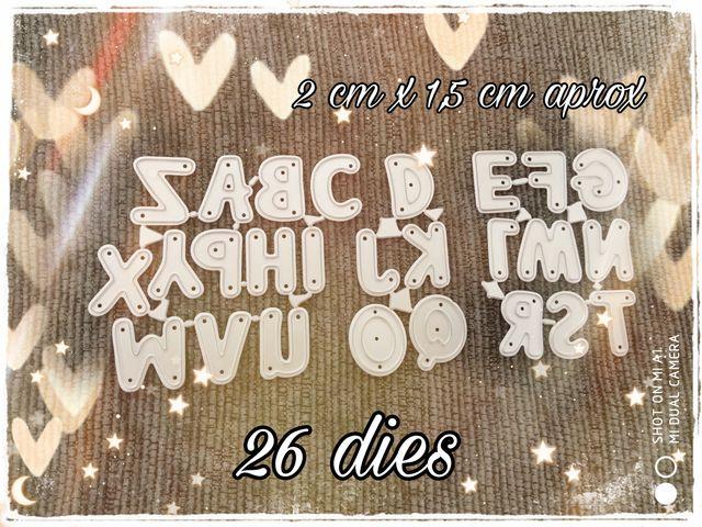26 troqueles alfabeto scrapbooking letras