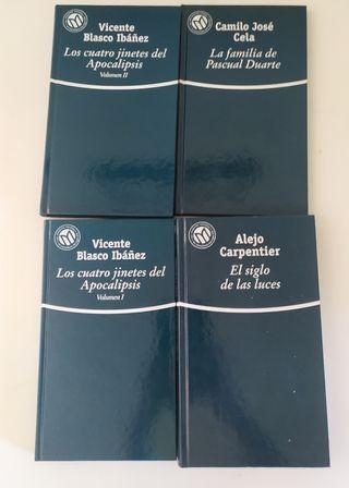 Novelas de Blasco Ibañez, Cela y Carpentier