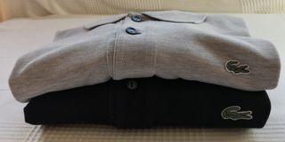 Pack de 2 polos Lacoste T 6 Negro y T 7 gris