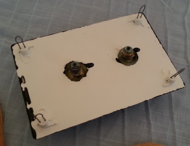 Indicador de presión vintage. Pareja de manómetros