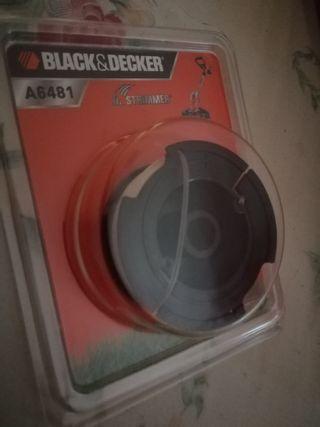 Bobina de hilo cortadora césped (Black & Decker)