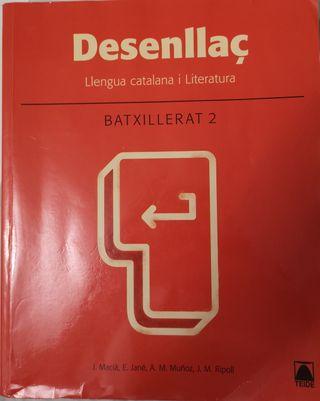 Libro llengua catalana i literatur Desenllaç 2BACH