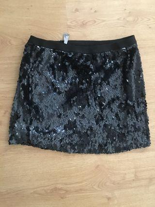 Falda negra lentejuelas