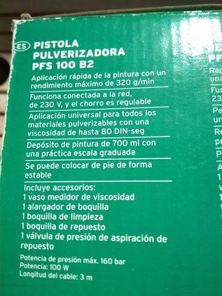 Pistola Pulverizadora Parkside PFS 100 B2.