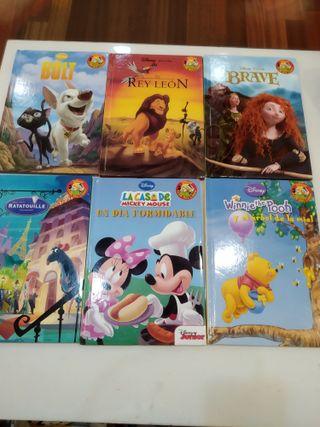 Lote libros Disney. 6 libros