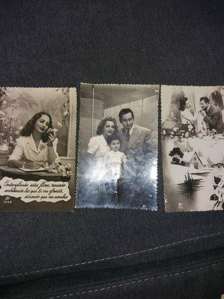 Tarjetas postales románticas años 50-60