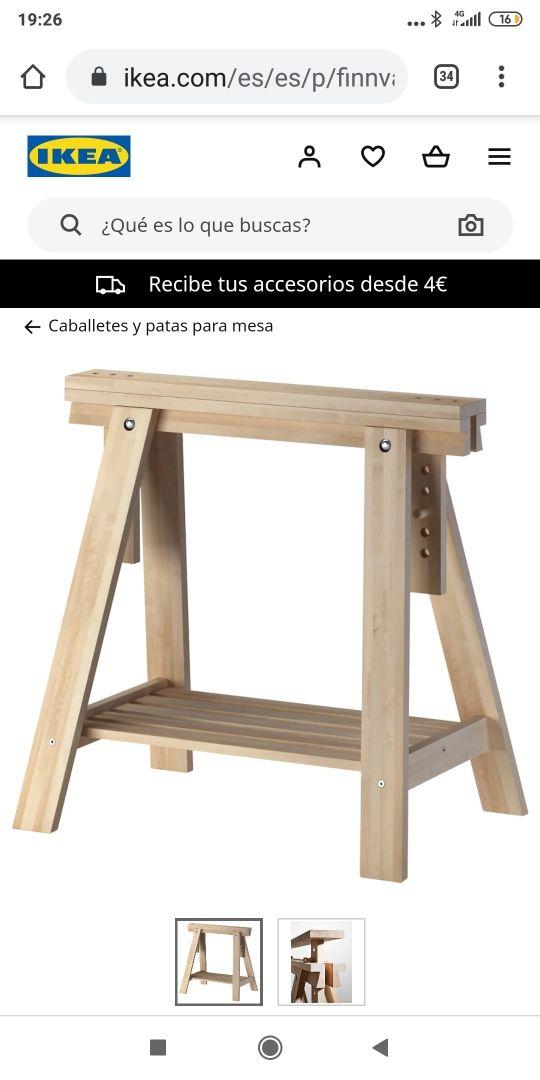 dos patas para tablero mesa escritorio.
