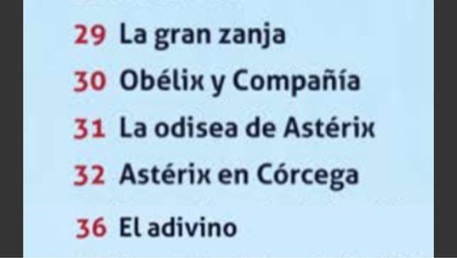 LOTE ASTERIX 5 TÍTULOS SALVAT + BARAJA DE CARTAS