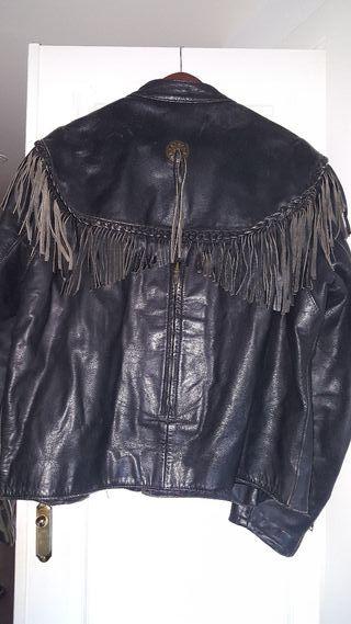 chaqueta piel harley