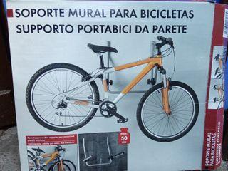 soporte mural para 2 bicicletas