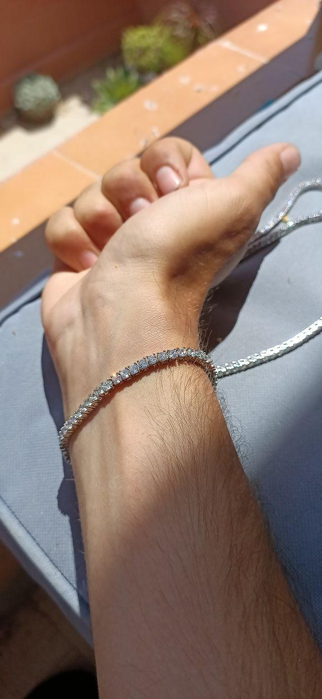 "Pulsera de brillantes ""tennis chain"" antes 30€"