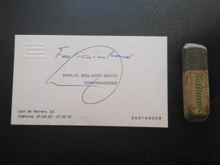 Tarjeta de Emilio Bolado, Presidente del Racing.