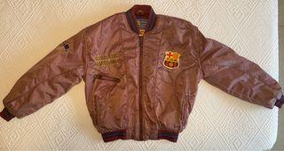 Chaquetón oficial del FC Barcelona años 90