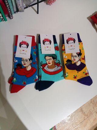 Lote 3 Pares Calcetines Frida Kahlo Nuevos